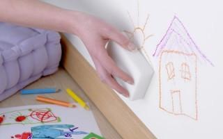 Как отмыть ручку и маркер с обоев