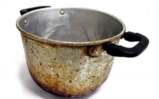 Народные средства отмывания пригоревшей кастрюли