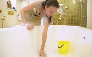 Чем дома можно очистить ванну из чугуна добела