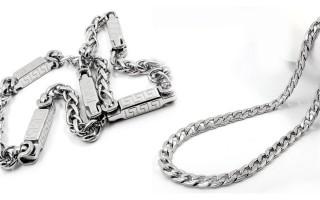 Чистка серебряной цепочки от потемневших участков