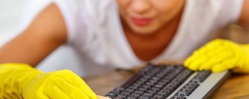 Чистка клавиатуры от загрязнений