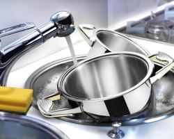 Уход за нержавеющими кастрюлями – чистка пригоревшей посуды