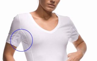 Как удалить пятна от пота с одежды под мышками