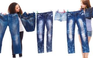 Как правильно стирать джинсы чтобы они не садились