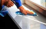 Как отмыть подоконник от загрязнений