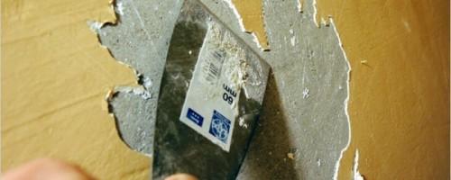 Как удалить старую краску со стены