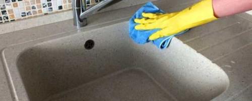 Чем почистить раковину из искусственного камня в домашних условиях