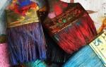 Как очистить кисточку от разных видов краски