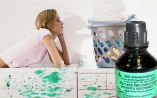 Способы отмывания зеленки с мебели