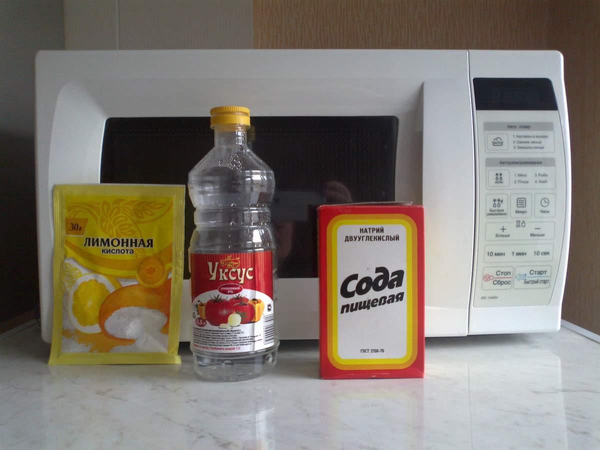 Как убрать жир с микроволновки