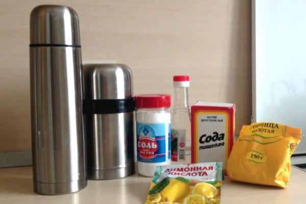 Как отмыть налет с термоса уксусом