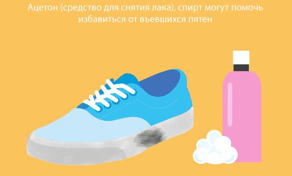 Как очистить белую подошву кроссовок ацетоном и спиртом