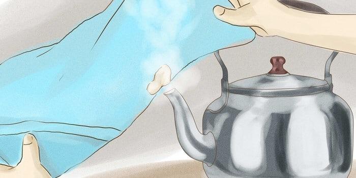 Как отчистить жвачку от одежды паром