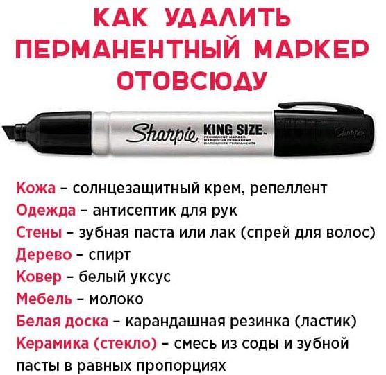 Как стереть маркер