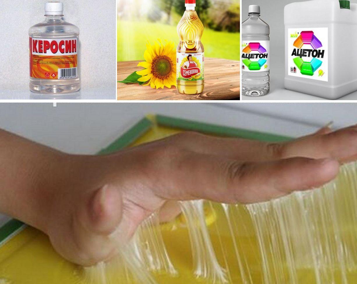 Как отмыть суперклей маслом