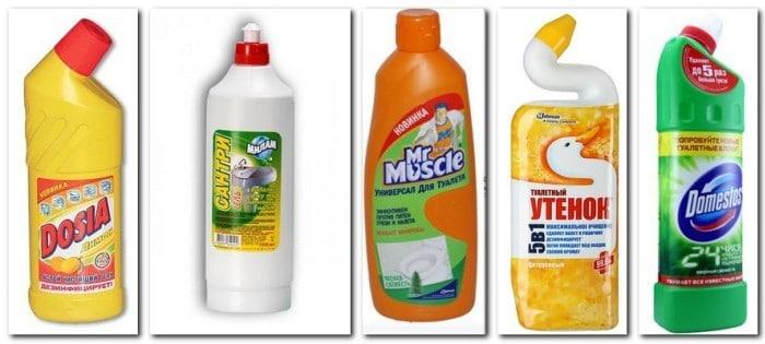 Как очистить унитаз специальными средствами