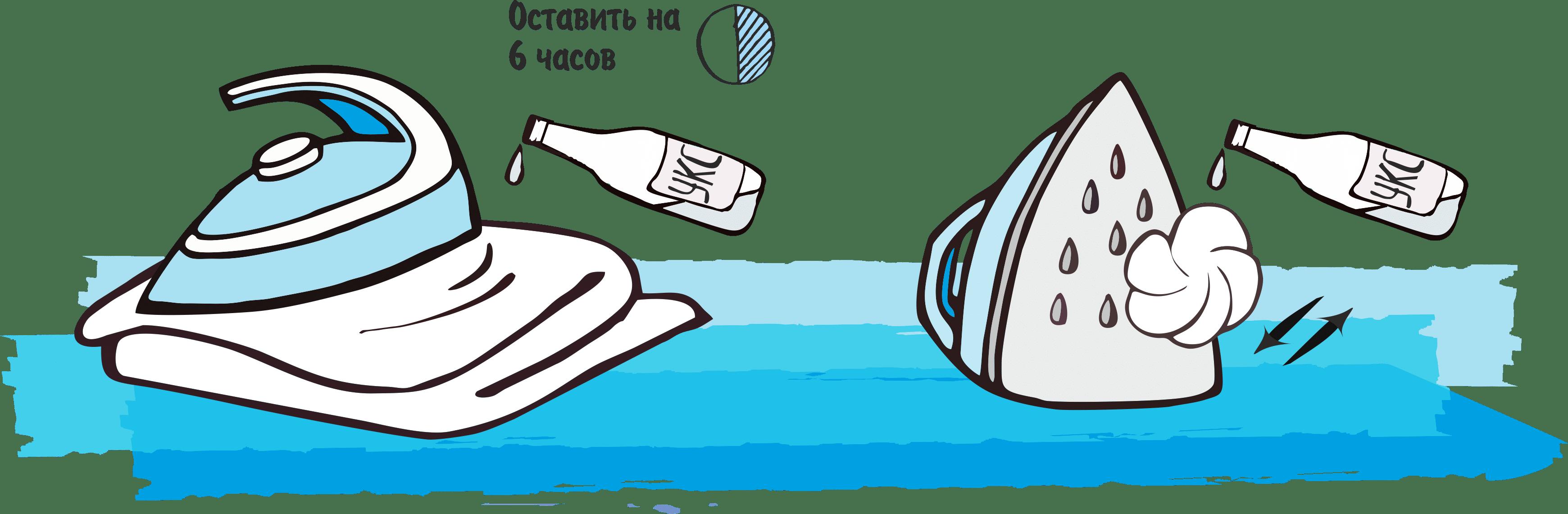 Чистка подошвы утюга уксусом