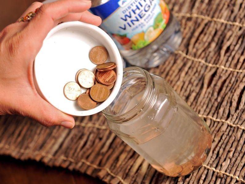 Чистка медных монет уксусом
