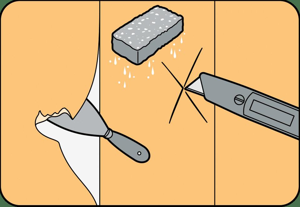 Как снять обои со стен