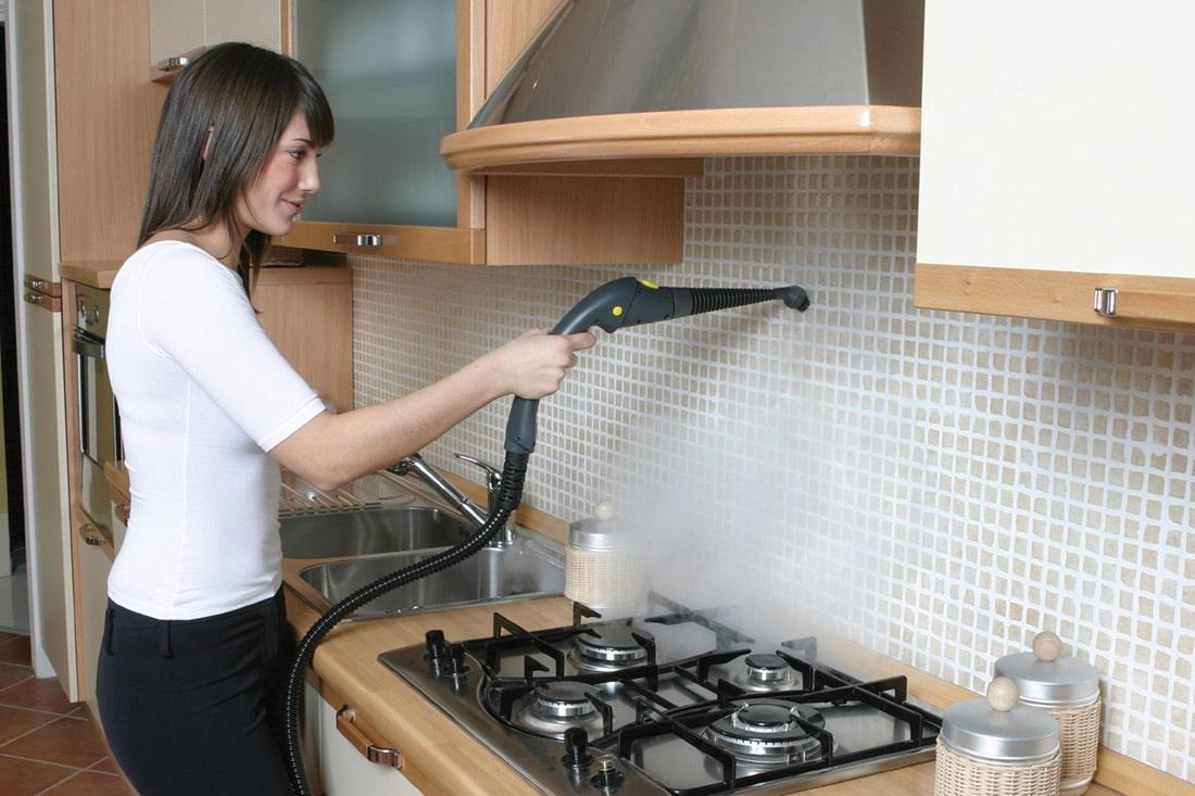 Как отмыть кухонный гарнитур от жира пароочистителем
