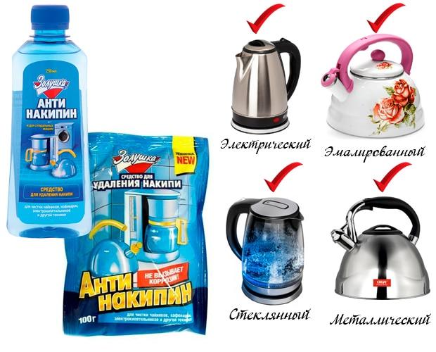 Как очистить чайник от накипи Антинакипином