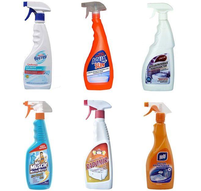 Средства для мытья акриловых ванн