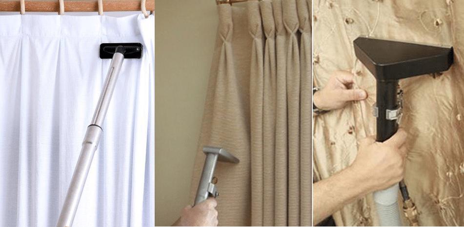 Как пылесосить шторы