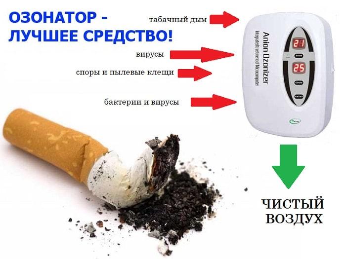 Как избавиться от запаха табака в квартире озонатором