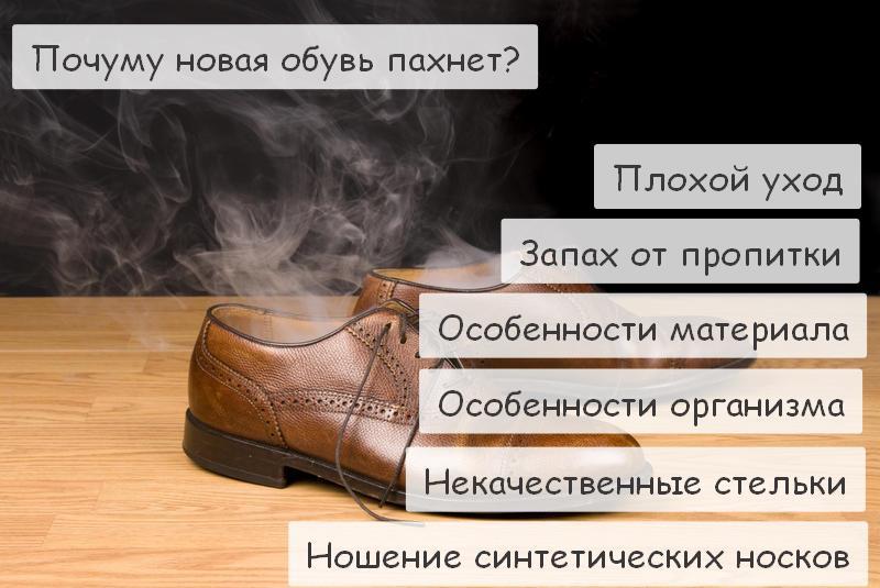 Причины запаха в новой обуви