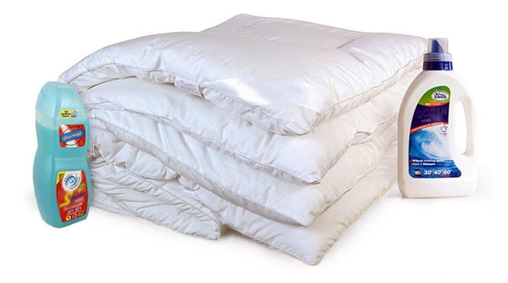 Стирка пухового одеяла