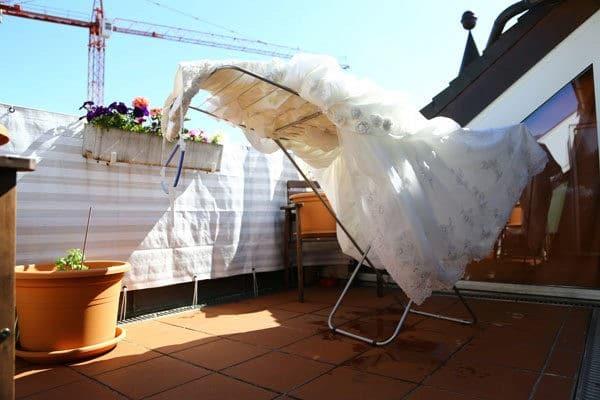 Как сушить свадебное платье
