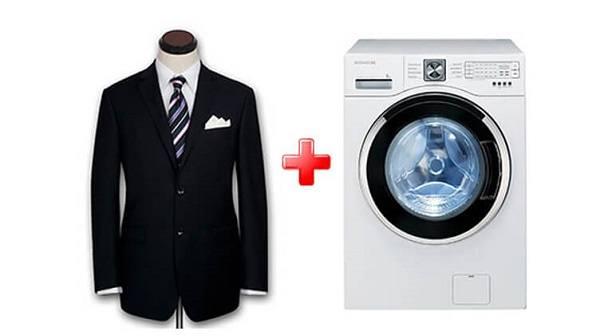 Автоматическая стирка пиджака