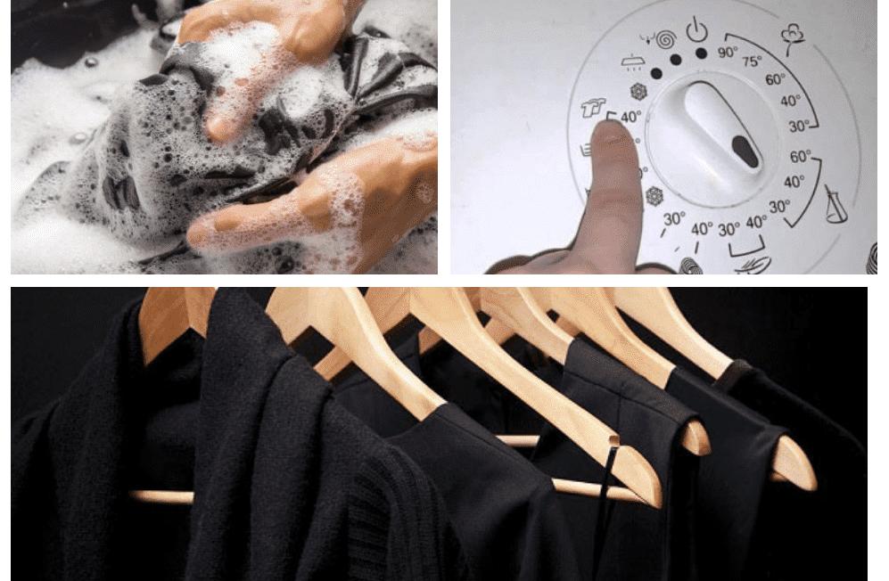 Как стирать черное