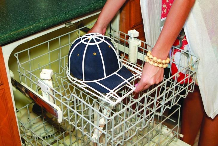 Стирка кепки в посудомойке