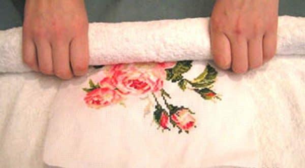 Как сушить вышивку