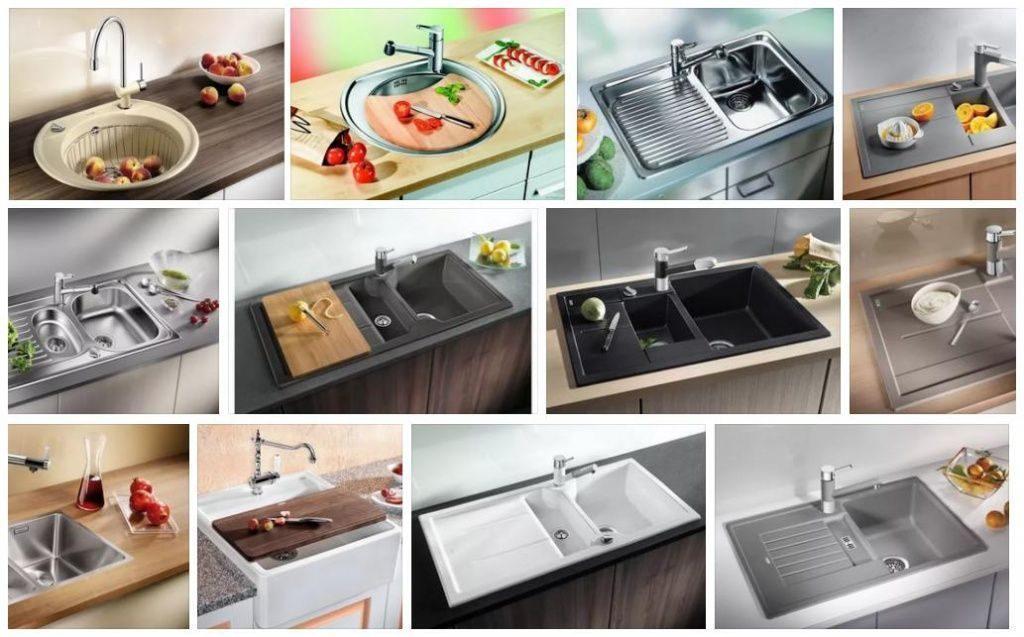 Виды кухонных раковин