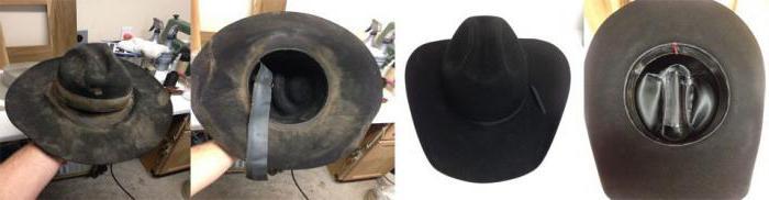 Подкладка у фетровой шляпы