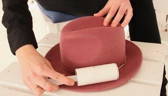 Очистка фетровой шляпы