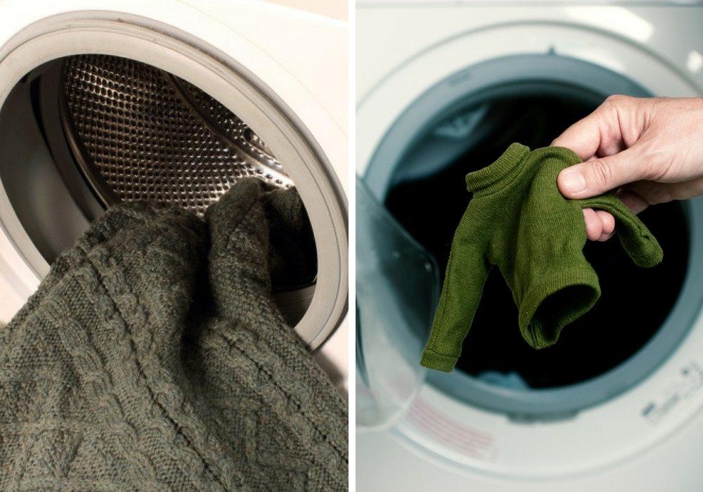 Усадка свитера