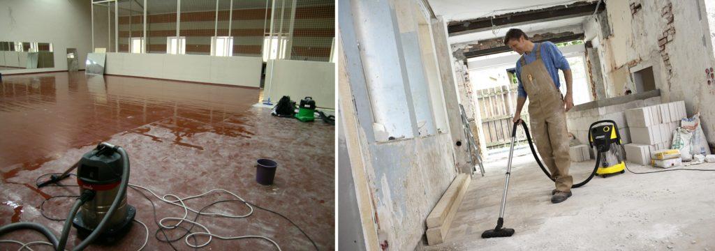 Уборка помещения от строительной пыли