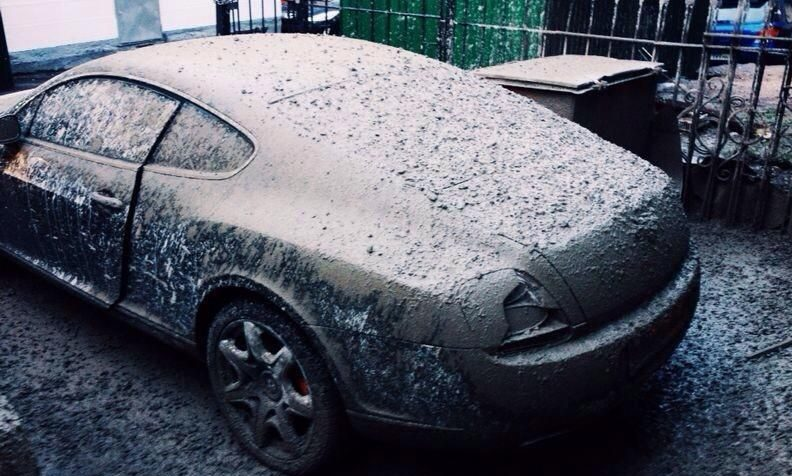 Цемент на авто