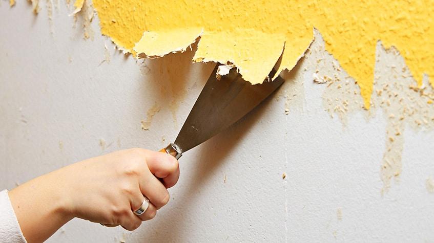 Как очистить краску со стены