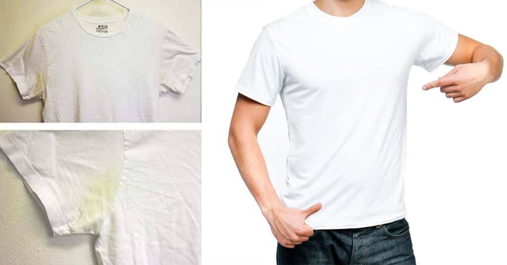 Пятна от пота на одежде под мышками